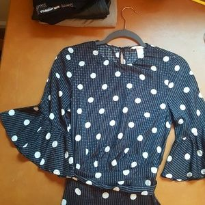 h&m polka dot dress new